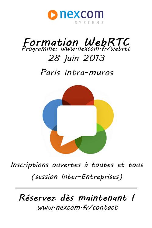 Formation WebRTC